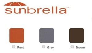 sunbrella std colors